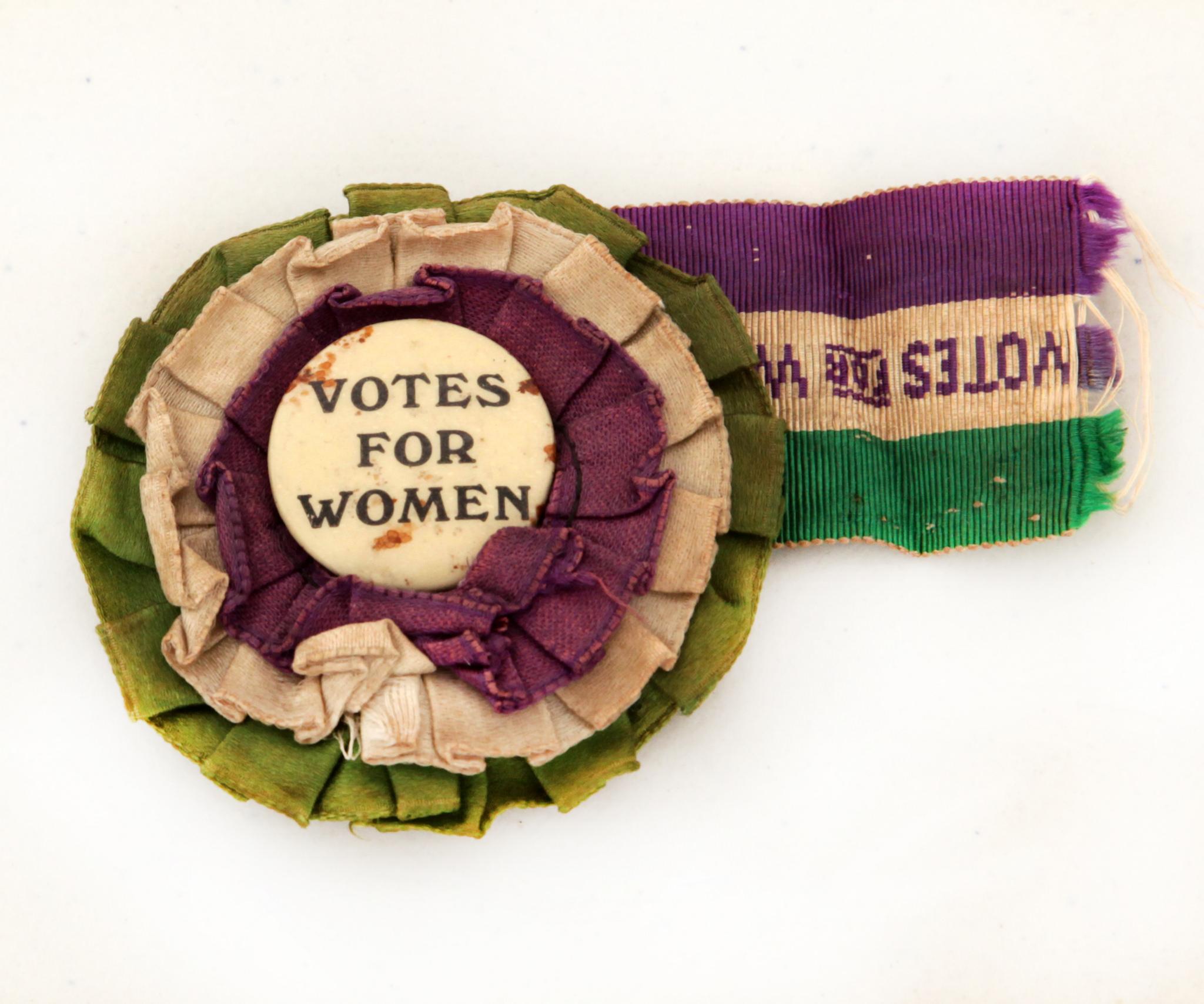 Suffragette rosette 1907-1914