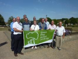 Royston's Priory Memorial Gardens receives a Green Flag Award