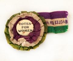 Suffragette Elizabeth Impey's Votes for Women badge