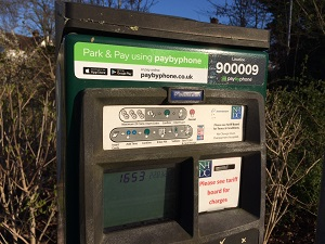 Parking pay and display machine